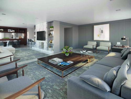 Living Apartamento 4 Suítes