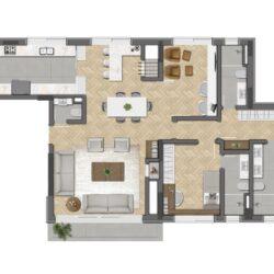 Planta Apto 2D + Home Office
